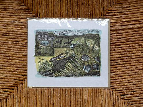 Angela Harding 'Newby Hare' card