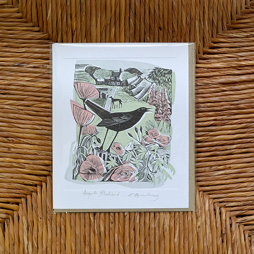 Angela Harding 'Blackbirds and Mulberries' card