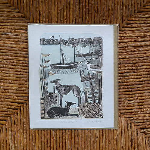 Angela Harding 'Harbour Whippets' card