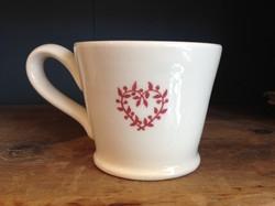 Perfect Peace small red mug