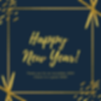Blue and Gold New Year Social Media Post