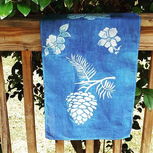 Linen Batik Tea Towel