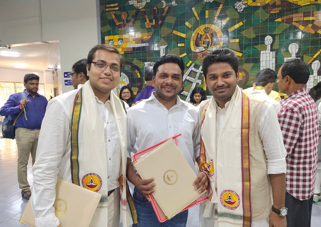 Shahan and Anirban convocation