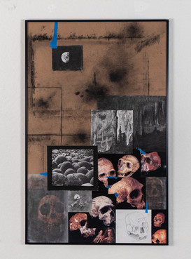 Mixed media on chipboard, 44 X 28 inches