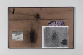 Mixed media on chipboard, 28 x 44