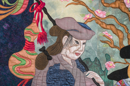 Geisha and the Serving Girl details 1