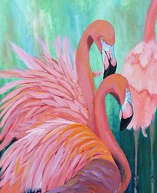 Granholm - Audrey's Flamingos.jpg
