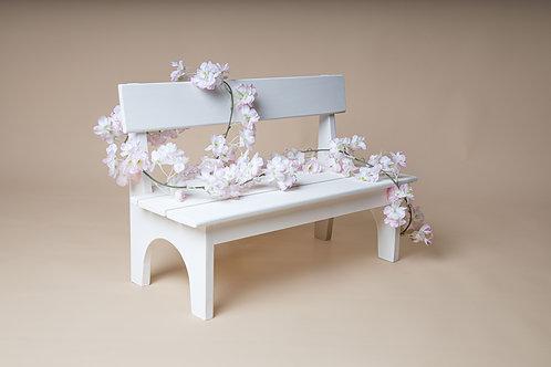 Wooden bench, infant/toddler prop