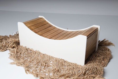 Wooden bed, baby seat, newborn photography prop