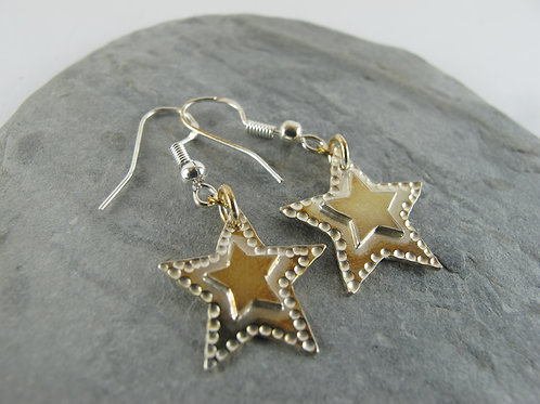 Star on a star earings