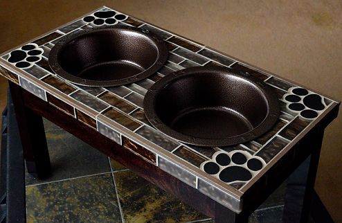 Mike's Custom Pet Designs, Pet Feeder, Pet Bowls, Dog Bowls