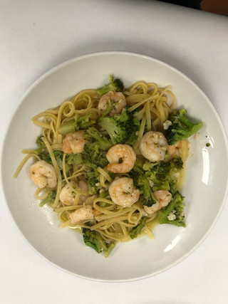 Linguini shrimp & broccoli
