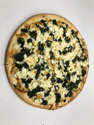 Specialty pizza, Bianca with spinach