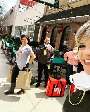 Delivering Lunch to Deserving Nurses