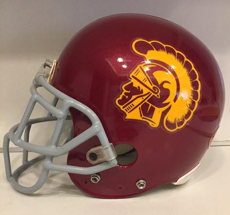 2003 USC Trojans Riddell VSR4 Helmet with #54 Tribute Decal