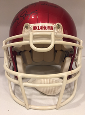 2000 Oklahoma Sooners National Championship VSR-4 Football Helmet Bob Stoops Autograph