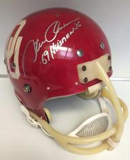Steve Owens Autographed 1969 Oklahoma Sooners Helmet
