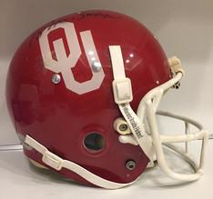 1979 Oklahoma Sooners Kelley Helmet Sims Autograph
