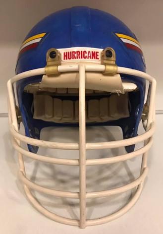 1985-1988 Tulsa Golden Hurricane Game Used Riddell PAC-3
