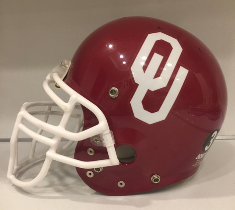 1999 Oklahoma Sooners Schutt Pro AiR II Football Helmet w/ Derrick Shepard memorial decal