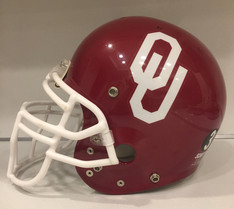 1999 Oklahoma Sooners Schutt Pro AiR II Football Helmet w/ Derrick Shepard memorial decal