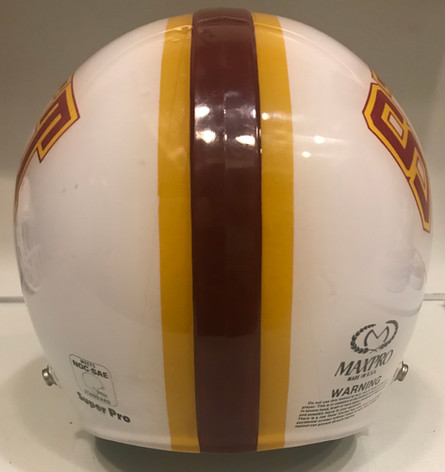 1986 Southwest Texas State Bobcats Maxpro Super Pro Game Used Football Helmet