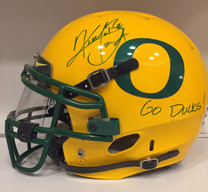 2009 Oregon Ducks Throwback Civil War Kenjon Barner Autograph