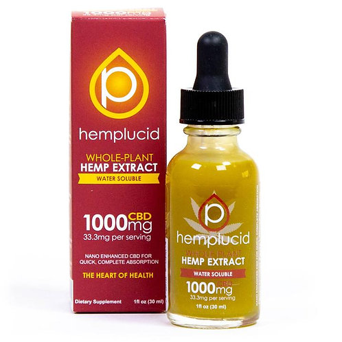 Hemp Lucid Full-Spectrum CBD Water Soluble - 1000 mg (33.3 mg per serving)