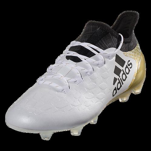 Adidas X 16.1 FG - White/Black/Gold Metallic