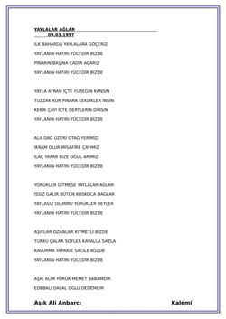 12 YAYLALAR AĞLAR-2