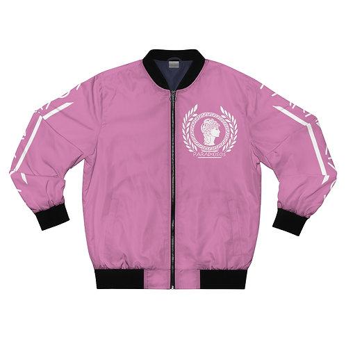 """Her Majesty"" Pink Bomber Jacket"