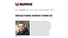 NUMUS announcement (in progress)