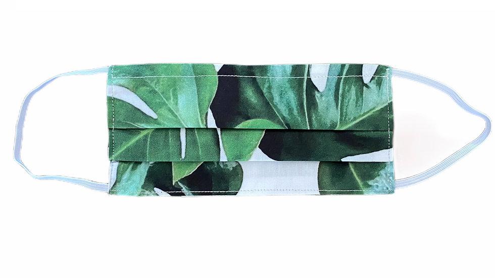Mascherina sartoriale stampa foglie