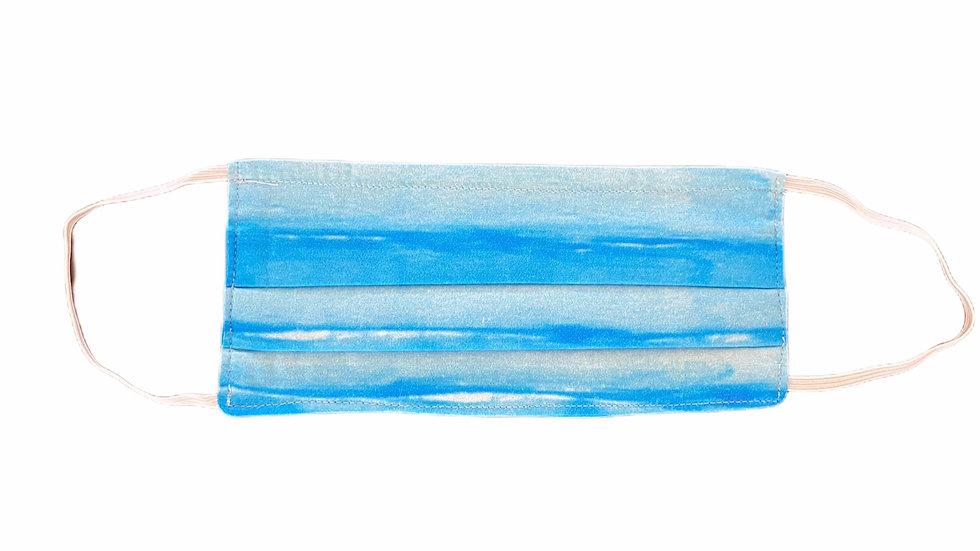 Mascherina sartoriale mare blu