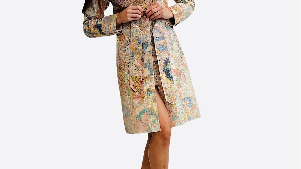 Cappotto in pelle stampato