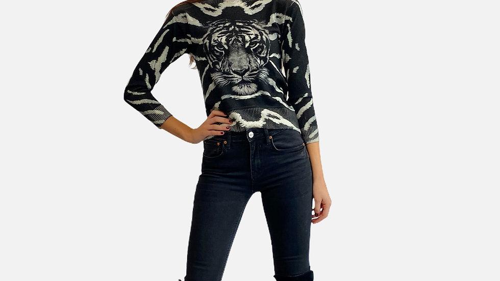 Maglia tigre nera