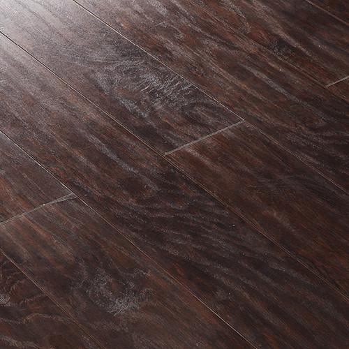 12MM Vintage Handscraped Dark Walnut Laminate With Pad