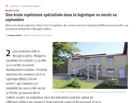 Le Dauphiné Libéré - ISCL - Ouverture en septembre 2021 en Nord Isère