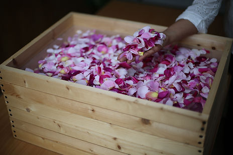 Organic English rose petals for Earl Grey Rose Tea