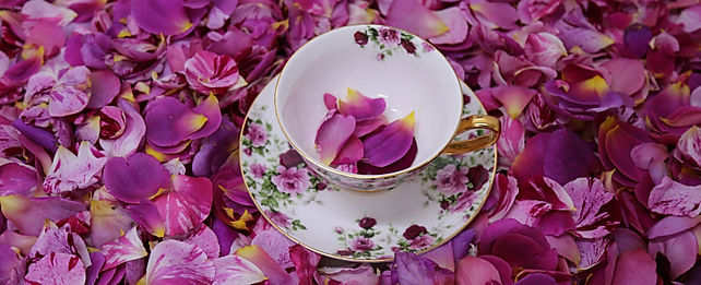 English rose petal tea