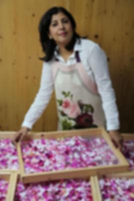 Organic English rose petals for Raspberry & Rose Petal Preserve