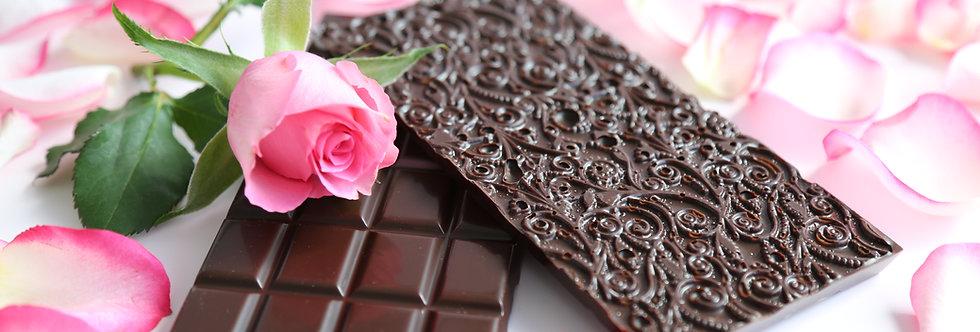 Rose & Dark Ecuadorian Chocolate Bar