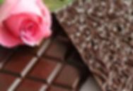 Hand made Ecuadorian Dark Chocolate With Organic Rose