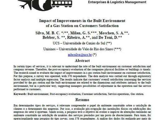 Impact of Improvements in the Built Environment of a Gas Station on Customers Satisfaction