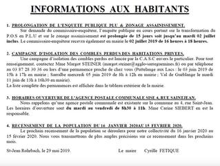 Informations aux habitants