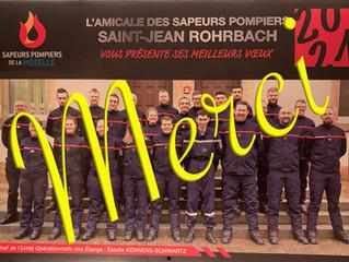 Distribution des calendriers : les pompiers remercient les habitants