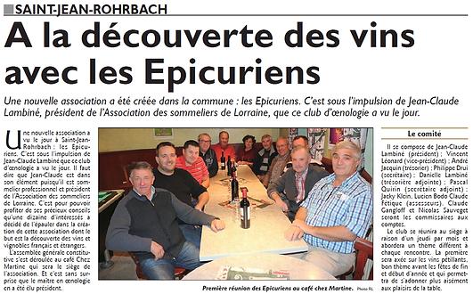 Les épicuriens s'établissent à Saint-Jean-Rohrbach paru le 17/11/15 dans le Républicain Lorrain