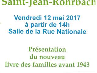 Présentation du livre des familles de Saint-Jean-Rohrbach avant 1943
