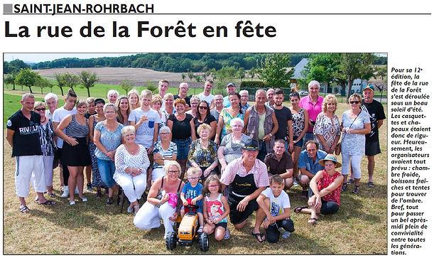 Fête de la rue à Saint-Jean-Rohrbach paru le 13/09/16 dans le Républicain Lorrain