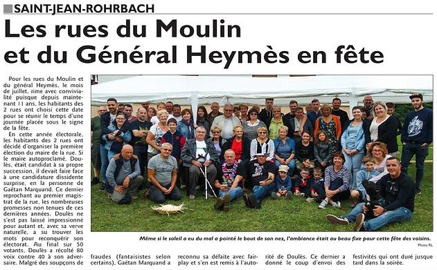 Reportage sur l'association Alert 57 de Saint-Jean-Rohrbach paru le 08/07/16 dans le Républicain Lorrain